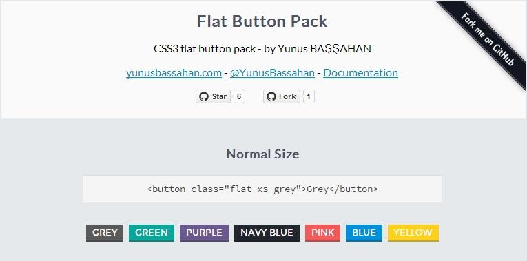 Boş Zaman Değerlendirmesi: CSS3 Flat Button Pack