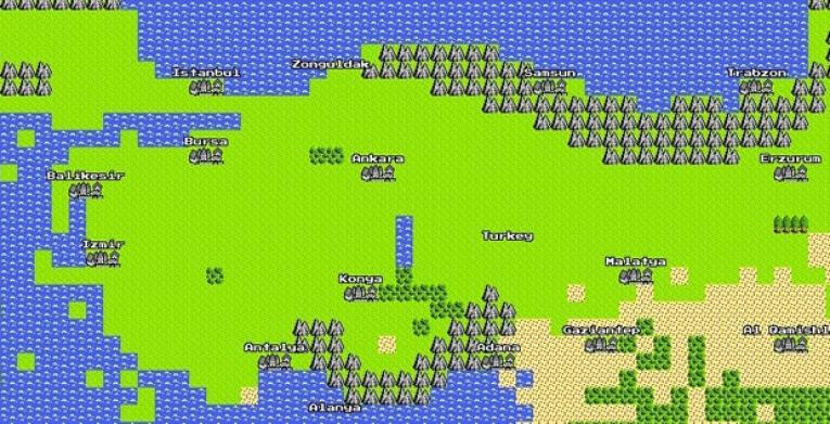 Google'dan 1 Nisan Şakası: 8-Bitlik Google Haritalar