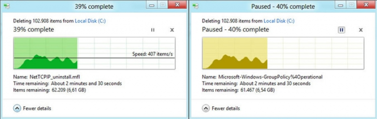 Windows 8 in Yeni Dialog Pencereleri